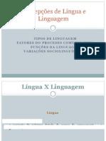 CONCEPÇÕES DE LÍNGUA E LINGUAGEM