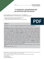 Validación de un cuestionario autoadministrado para la evaluación del desarrollo psicomotor