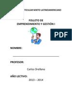 Módulo de emprendimiento y gestión para segundo de bachillerato 2013