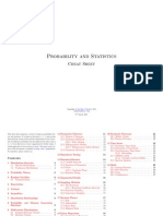 A Probability and Statistics Cheatsheet 1