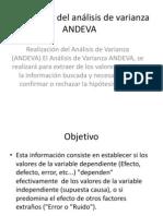 Realización del análisis de varianza ANDEVA