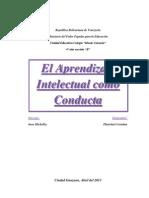 Trabajo Psicologia Aprendizaje Intelectual Como Conducta