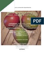 Proyecto Sistema de Refrigeracion Para Mango