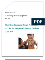 NPDA Workshop Syllabus Feb2011