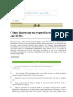 Inserción de Multimedia en Pagina Web