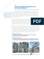 Secondary Containment at Electric Power Substations White Paper