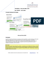150 questões VUNESP Office 2010 nível médio www.informaticadeconcursos.com.br