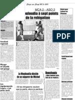 Le Mouloudia à sept points de la relégation