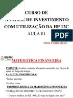 AULA MATEMÁTICA FINANCEIRA 01