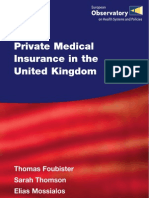 106286902 Private Medical Insurance in the United Kingdom 2006