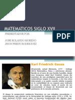 Matematicos Siglo Xvii