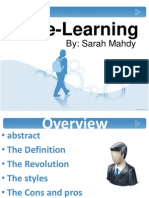 E-learning by Sarah Mahdy