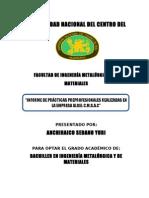 INFORME DE GALVANIZACIÓN