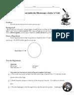 microscope letter e  lab 2011