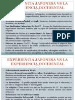 Experiencia Japonesa vs La Experiencia Occidental