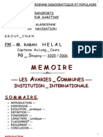 8369777 MEMOIRE Les Avaries Communes