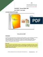 145 questões VUNESP Office 2007 nível médio AMOSTRA SCRIBD