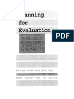 Planning for Evaluation