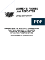 Learning From The New Jersey Supreme Court Task Force On Women In The Courts