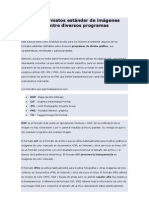 Distintos formatos estándar de imágenes utilizables entre diversos programas gráficos