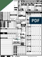 Anima Complete Character Sheet Editable