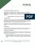 Carta Normativa Especial 2013-01