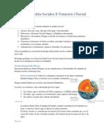 Resumen Estudios Sociales II Trimestre I Parcial