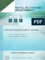 Estructuras Fcc, Bcc y Factor de Empaquetamiento