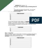 Handouts and Appendix B