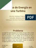 Balance de Energía en una Turbina