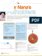 CROCHET TODAY Nanas Pot Holders Printable