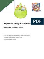 EDEL453 Spring2013 Robyn Bolton TeacherEdition