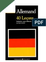 Langue Allemand 40 Leçons pour parler allemand Presses Pocket