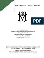 Training Project Report 2009-10 i II 16-04-2010