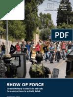 """""""Show of Force"""" – B'Tselem report"""