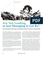 Are You Leading, or Just Managing to Get By?