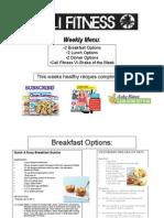 cali fitness weekly menu 3 17 13-3 23 13