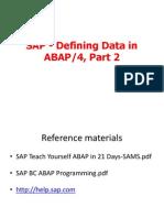05_SAP - Defining Data in ABAP Part2