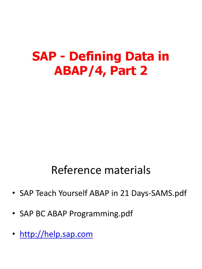 05_SAP - Defining Data in ABAP Part2 | Data Type | String