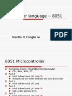 Assembler language – 8051powerpoint presentation.ppt
