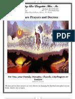 Warfare Prayers and Decrees