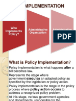 Policy implementation