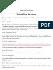 Student Dorm Agreement