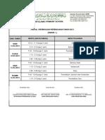 Jadual Peperiksaan Pertengahan Tahun (THN 1)