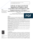 Analysis on inter-provincial disparities of China's rural education and convergence rate Empirical analysis on 31 provinces' (municipalities') panel data from 2001 to 2008