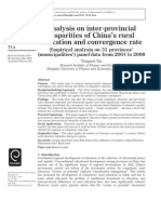 Analysis on inter-provincial