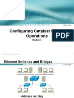 Configuring Catalyst Switch Operation