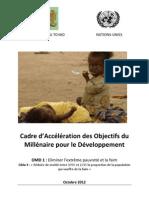 Cadre d'Accélération des Objectifs du Millénaire pour le Développement au Tchad, OMD 1 / Cible 3 (Octobre 2012)
