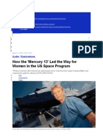 How the 'Mercury 13' Led the Way for Women in the US Space Program