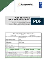 PLAN DE GESTION DES ACHATS ET DES STOCKS (GAS)--PROJET FONDS MONDIAL AU TCHAD-- COMPOSANTE PALUDISME, PHASE 1, ROUND 7 (Mai 2009)